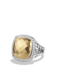 David Yurman Albion Ring With Diamonds And Gold Silver Champagne