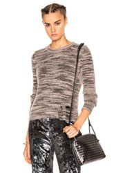 Raquel Allegra Slit Elbow Crew In Pink Gray Abstract Pink Gray Abstract