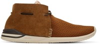 Visvim Brown Huron Mesh Moc Folk Sneakers