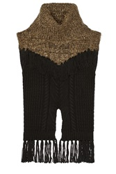 Thakoon Addition Fringed Cable Knit Wool Blend Sweater