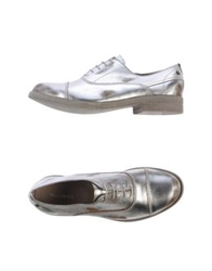 Diesel Lace Up Shoes Silver