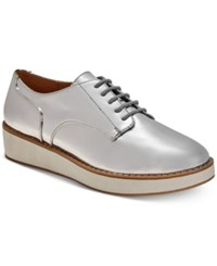 Call It Spring Mclinn Oxford Flats Women's Shoes Silver