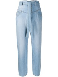 Pinko High Rise Belted Waist Jeans 60