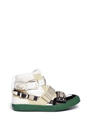 Toga Archives Metal Hardware Suede Leather Sneakers Multi Colour