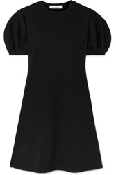 Beaufille Leda Ribbed Cotton Blend Jersey Mini Dress Black