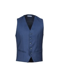 Daniele Alessandrini Grey Vests Dark Blue