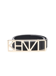 Kenzo Logo Buckle Leather Belt