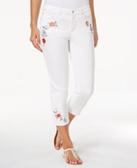 Charter Club Bristol Embroidered Capri Jeans Only At Macy's Bright White