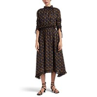 Masscob Montes Floral Cotton Dress Black