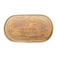 Bloomingville Paula Iridescent Stoneware Tray Brown