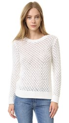 Jenni Kayne Textured Crewneck Sweater White
