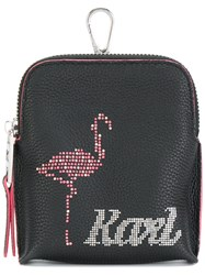 Karl Lagerfeld Yoni Alter Keychain Pouch Black