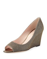 Radiant Sparkle Wedge Pump Bronze Kate Spade New York