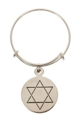 Alex And Ani Sterling Silver Star Of David Wire Ring Metallic