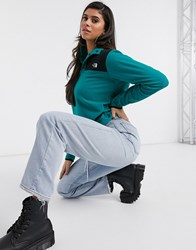 The North Face Tka Glacier Snap Neck Pullover Fleece In Turquoise Green