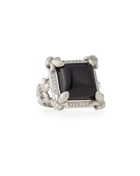Jude Frances Black Onyx And Diamond Fleur Ring