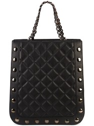 Thomas Wylde Quilted Shopper Tote Women Lamb Nubuck Leather One Size Black