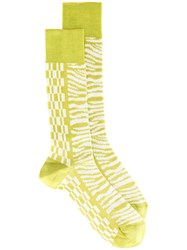 Haider Ackermann Printed Socks Green