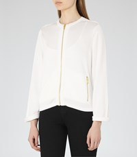 Reiss Mildred Womens Zip Front Cardigan In White