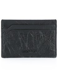 Lanvin Cracked Logo Cardholder Black