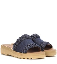 See By Chloe Denim Platform Sandals Blue