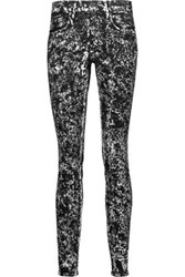 Proenza Schouler Mid Rise Coated Skinny Jeans Charcoal