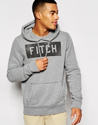 Abercrombie And Fitch Hooded Sweatshirt With Fitch Print Grey