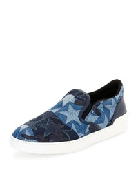 Valentino Camustars Denim Slip On Sneaker Light Blue Lt. Blue