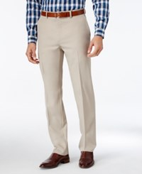 Alfani Men's Slim Fit Flat Front Pants Only At Macy's Stone