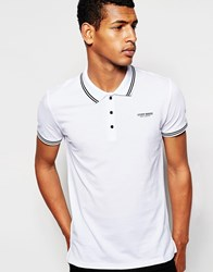 Antony Morato Pique Polo Shirt With Tipping White