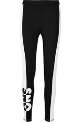 Topshop Sno Printed Stretch Jersey Leggings Black