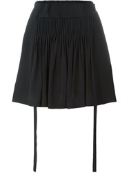 No21 Ruched Panel Pleated Detail Short Shorts Black