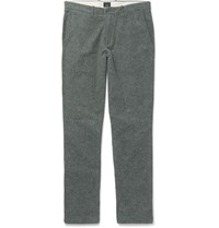 J.Crew Brushed Cotton Twill Chinos Charcoal