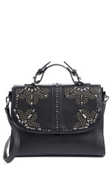 Chelsea 28 Chelsea28 Blair Embellished Faux Leather Top Handle Satchel