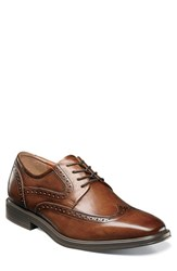 Florsheim Men's Heights Wingtip Cognac Leather