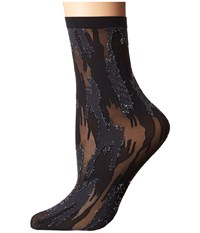 Wolford Camouflage Socks Black Silver Women's No Show Socks Shoes