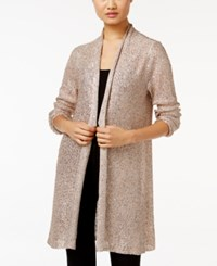 Alfani Petite Sequin Duster Cardigan Only At Macy's New Champagne