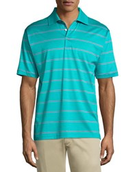 Bobby Jones Striped Short Sleeve Polo Shirt Green