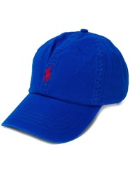 Ralph Lauren Embroidered Logo Baseball Cap Blue
