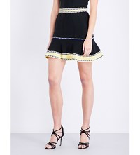 Sandro Fit And Flare Knitted Skirt Black