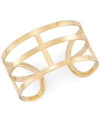 Sis By Simone I Smith I. Openwork Cuff Bangle Bracelet In 14K Gold Over Sterling Silver