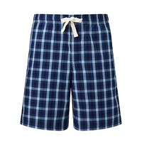 John Lewis York Check Lounge Shorts Blue