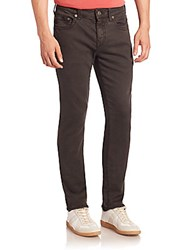 True Religion Five Pocket Relaxed Slim Jeans Onyx
