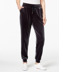 Style And Co Velour Jogger Pants Created For Macy's Midnight Oil