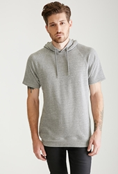 Forever 21 Heathered Pullover Hoodie Heather Grey
