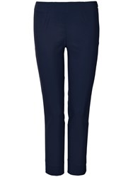 Winser London Cotton Twill Capri Trousers Midnight