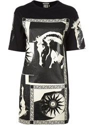 Fausto Puglisi Printed Oversized T Shirt Black