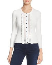 Karen Millen Ruffle Cardigan 100 Exclusive White