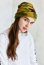 Urban Outfitters Camo Beanie Green