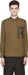 Comme Des Garcons Green 'Soldier Of Peace' Shirt